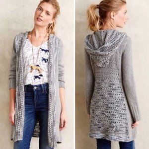 Anthro Angel of the North Gray Hooded Sweater M